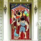 Décoration de Fête de Cirque de Carnaval Bannière de Porte de Photo de Carnaval Accessoires de Toile de Fond, Bannière de Por
