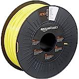 Amazon Basics - Filamento para impresora 3D, tereftalato de polietileno (PETG), 1,75 mm, cinta de 1 kg, amarillo
