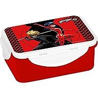 Boîte à sandwich Miraculous - En plastique - Noir/rouge - 16 x 10,5 x 6,5 cm