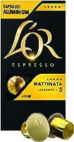 L'Or Espresso Café Lungo Mattinata Intensité 5 - 50 Capsules en Aluminium Compatibles Nespresso®* (Lot de 5X10 capsules)