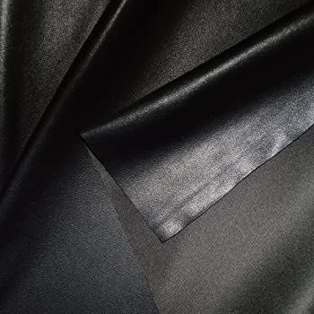 Cuir Synthétique PVC dameublement - couleur  NOIR structure cuir Vache  Stoffkontor cadeaux de Noël b6150c96537