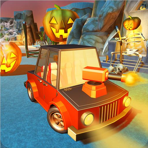 Furchtsames Halloween-Schießen-Auto (Halloween Schießen Zombie)
