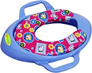 BabyGo Plastic Cushioned Potty Seat With Handle (Blue)