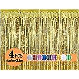Metalen lametta gordijnen/folie gordijn/achtergrond ringgordijnen voor verjaardag, Partij,bruiloft, doe-het-zelf foto-booth d