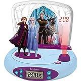 LEXIBOOK Disney Frozen 2-Reloj Despertador con Proyección de la Hora, en el Techo, Efectos de Sonido, RP510FZ, Color