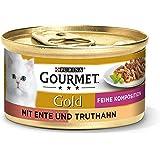 Purina Gourmet Gold Mokra Karma z Kaczką i Indykiem dla Dorosłych Kotów, 12 x 85 g