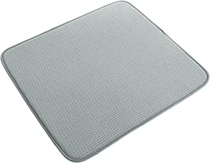 Prime Polyester Honey Comb Pattern Dish Drying Mat, 280 GSM, 40x45cm, Grey