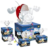 Cultica Griswold Family Moose Glass Mega Set 4Moose Mugs + Punch Bowl, Punch Spoon Warner Brothers Licensed Product Christmas Vacation