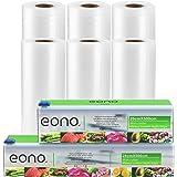 Amazon Brand - Eono Sac Sous Vide Alimentaire - pour Sous Vide ou Stockage des Aliments, Sans BPA, Pas Plus de Ciseaux - 20cm