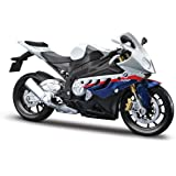 Maisto 1/12 BMW S1000RR Motorcycle, White/Red/Blue