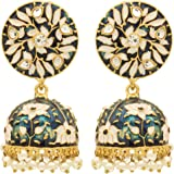 Sanjog Traditional Meenakari Jhumki Earring For Girls/Women For Party