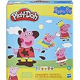 Play-Doh zestaw do stylizacji Świnka Peppa z 9 tubami nietoksycznej masy plastycznej i 11 akcesoriami, zabawka dla dzieci w w