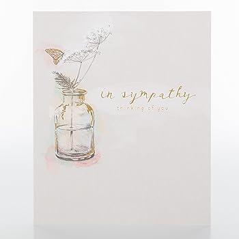hallmark sympathy card for thinking of you medium amazon co uk