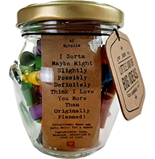 Little Jar Of Big Ideas Ten Reasons Why I Love You To The Person I Love Unique Present Artisan Handcrafted Gift Hearts Amazon Co Uk Kitchen Home