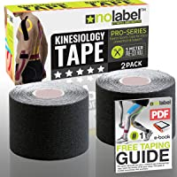 No Label kinésiologie prédécoupé,–de Tape–Pre Coupé de–kinesiotape Pre Coupé de–Bandage prédécoupé,–kinésiologique–7Couleurs–5mètres–fabriqués