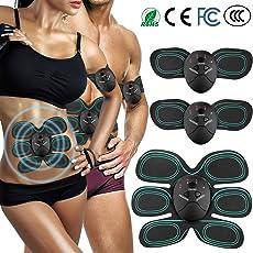 AUKUYEE Muskelstimulation Elektrostimulation, EMS Bauchmuskeltrainer Muskelstimulator Muskel Toner