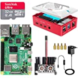 LABISTS Raspberry Pi 4 8GB Kit Incluido Tarjeta SD 32GB Precargada con Raspberry Pi OS, 2 Ventiladores, Disipador de Calor Gr
