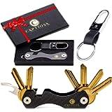Smart Key Holder Key Organiser Compact Key Holder Made of Carbon Fiber Keyport Pivot Key Ring Keychain Organizer UP to…