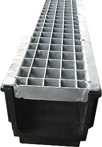 Entwässerungsrinne 1 Meter mit Stegrost LKW befahrbar