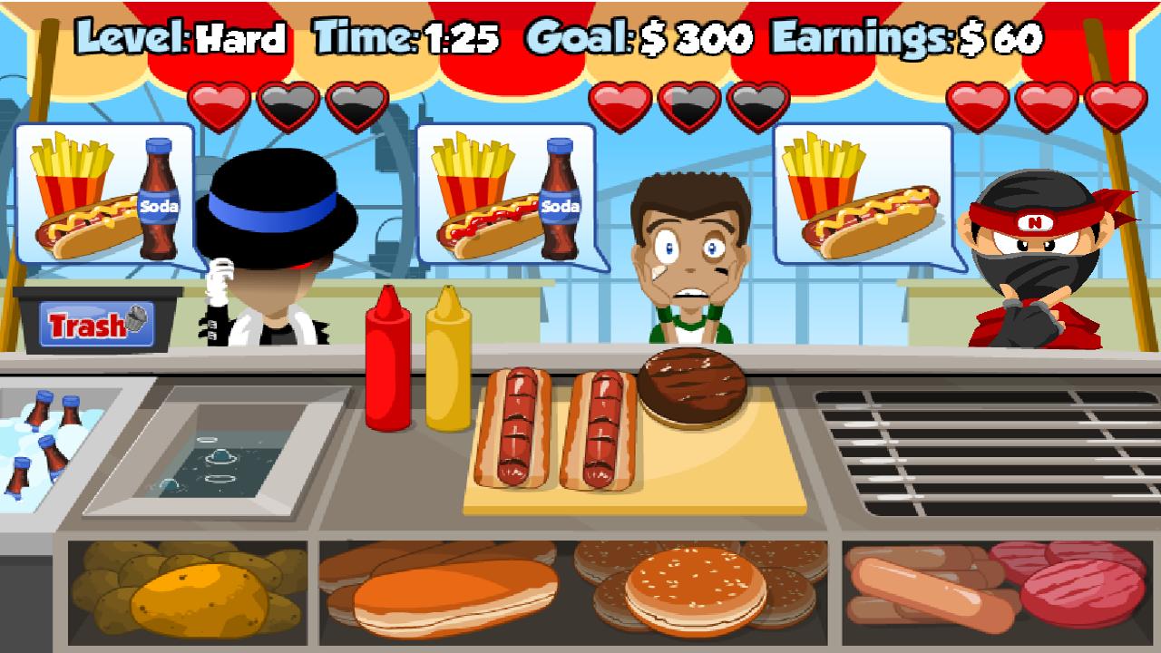 spiele hot dog stand