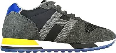 Hogan Scarpe da Uomo Retro Running Sneaker H383 HXM3830AN51JHN6EDT Grigio - Blu