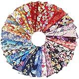 aufodara 30 pièces Tissus Coton Style Japonais Bronzant Imprime Patchwork 20 x 25 cm Couture Quilting Scrapbooking Loisir Cré