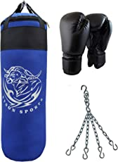 Byson Boxing Set for Seniors Strong and Rough (36 inch) Punching Bag with Boxing Gloves and Chain (Heavy Bag)