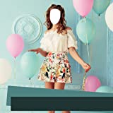 Girl Short Dress Photo Montage