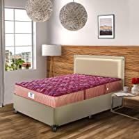 Peps Springkoil Bonnell 6-inch Single Size Spring Mattress (Maroon, 72x48x06)
