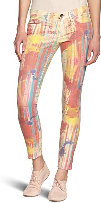 Pepe Jeans Damen Hose, All over Druck PL210563 SUGAR RUSH