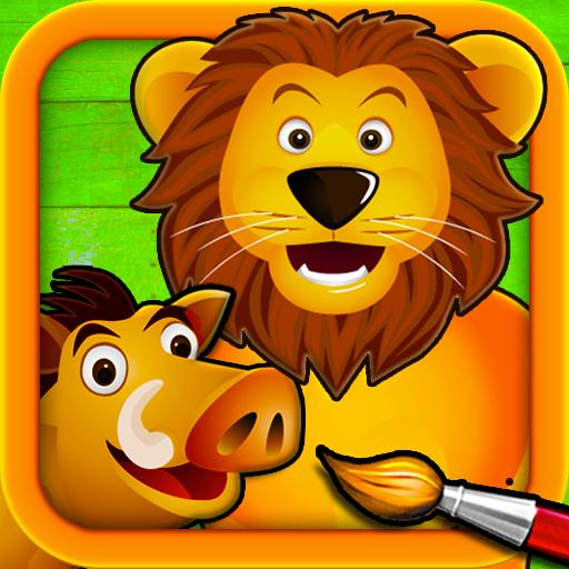 Sabana - Puzzles para Pintar - Dibujos para Colorear de los Animales...