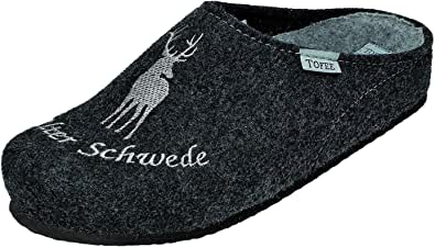 Tofee - Pantofole da uomo in feltro di lana naturale, taglia da 41 a 47