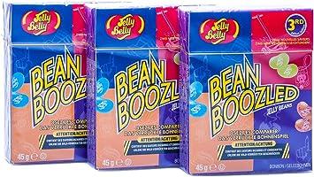 3x Bean Boozled Flip Top Box, Nachfüllpackung für das verrückte Bohnenspiel