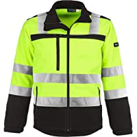 TMG® High Visibility Jacket for Men Water Resistant Softshell Work Jacket (Class 2)