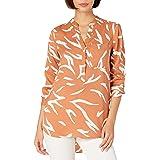 Marca Amazon - Daily Ritual Georgette Henley Tunic - tunic-shirts Mujer