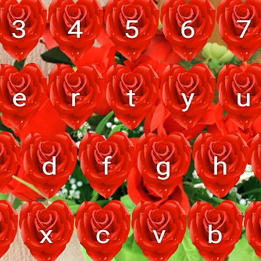 Rote Rose Tastaturen