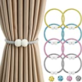 HOME CUBE Polyester, Plastic, Magnet Curtain Tieback Clips, Standard, Pack of 4