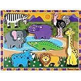 Melissa & Doug - 13722 - Puzzle À Grosses Pièces En Bois - Animaux De Safari