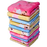 Space Fly Sofex Cotton Soft and Thick Face Towels (10x10-inch, Multicolour) - 10 Pieces