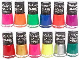 Makeup Mania Daily Wear Nail Polish Combo (Multicolor No.74, Pack of 12)