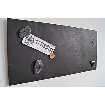 Magnettafel Schiefer 4 In 1 (Magnetwand+Kreidetafel+Pinnwand+Wandbild)  Naturstein Magnetboard Inkl 1 X Steinmagnet Und 1x Kreidestück In  Verschiedenen ...