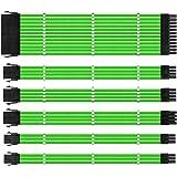 One enjoy Kit de extensión de Cable, Cable Fuente Alimentacion Modular, Conectores PSU, Cable ATX EPS PCI-E con peines, Sleev