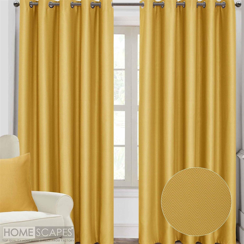 Homescapes, rideaux à œillets occultant, motif chevrons, isolation ...