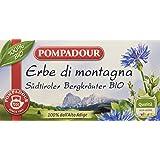 Pompadour Infusione per Bevande Calde, Erbe di Montagna dell'Alto Adige Bio - 20 filtri - [confezione da 3]