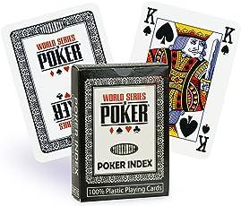 WSOP Plastikkarten Poker-Index Schwarz