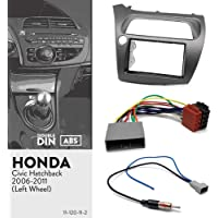 UGAR 11-120 Kit Double d'installation de Tableau de Bord Radio DIN + Adaptateur pour Autoradio GPS Navigateur Stéréo De Voiture + Adaptateur d'antenne Radio pour Honda Civic 2006-2011
