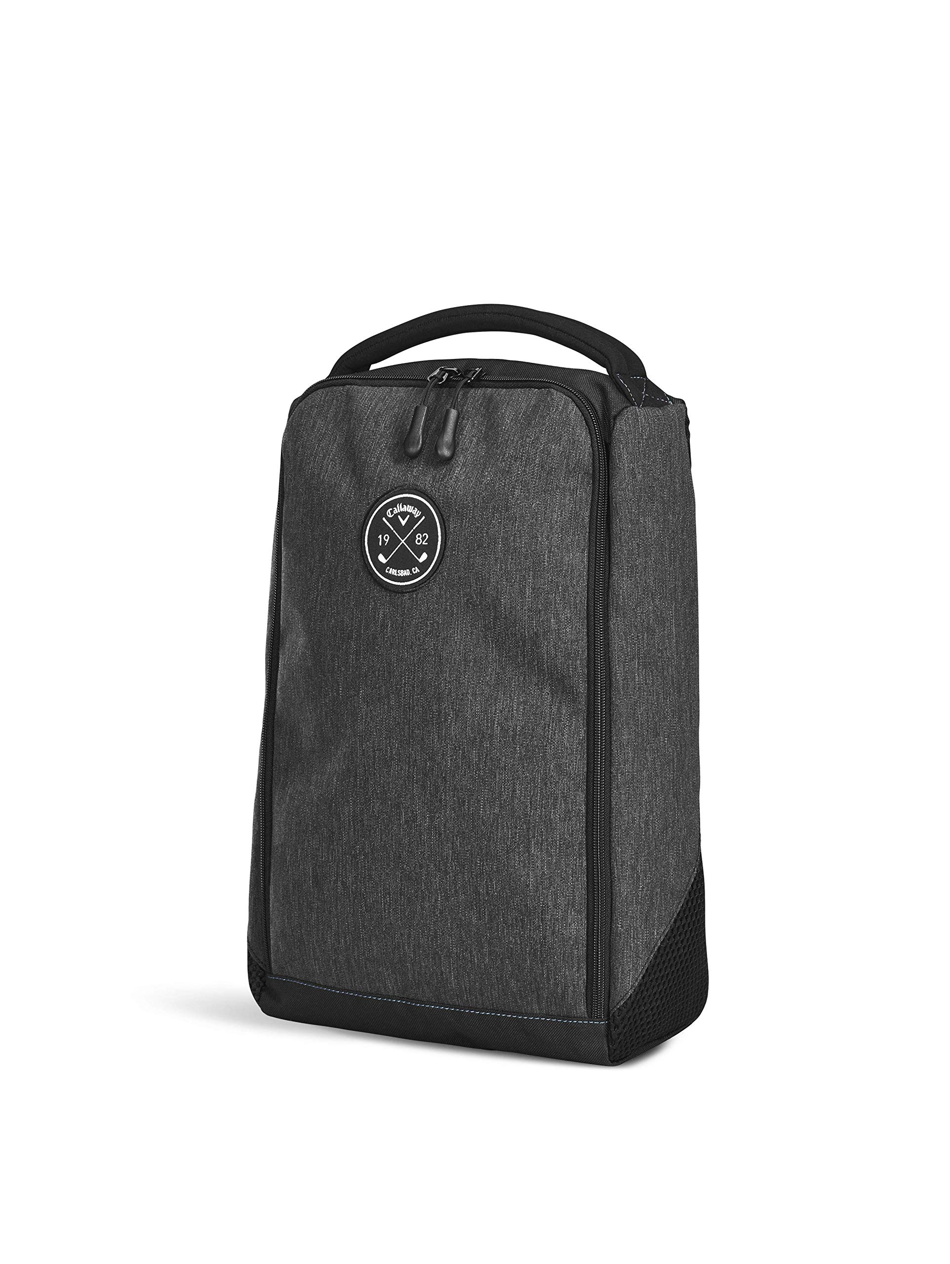 Callaway Men's Clubhouse Shoe Bag, Black, One Size Callaway Padded Comfort Grip Handle Dual Side Air Vents Easy Glide Zipper 3