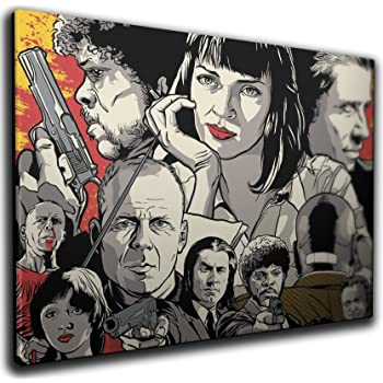 PULP FICTION MOVIE POSTER CANVAS WALL ART PRINTS ROOM DECORATION