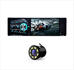 Woodman MP5 Single Din FM/Bluetooth/USB/Video Car Stereo with LED Rear-View Camera and Music System(Black)