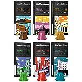 FRHOME - Nespresso 120 Cápsulas de Café compatibles - Il Caffè italiano - Tour d' Italia Kit de degustación con varias intens